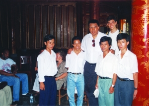 Ali Poses with fans at palace in Hue, Vietnam