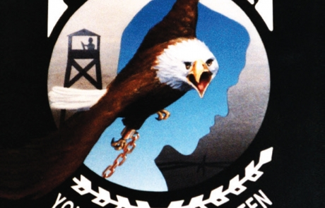 POW MIA Logo with American Eagle