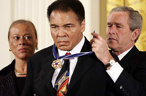 Ali Awarded Presidential Medal of Freedom