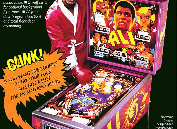 Muhammad Ali Original Vintage Pinball Machine